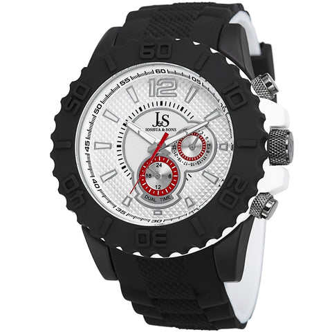 Joshua & Sons Men's Analog Display Swiss Quartz Black Watch JS77WT