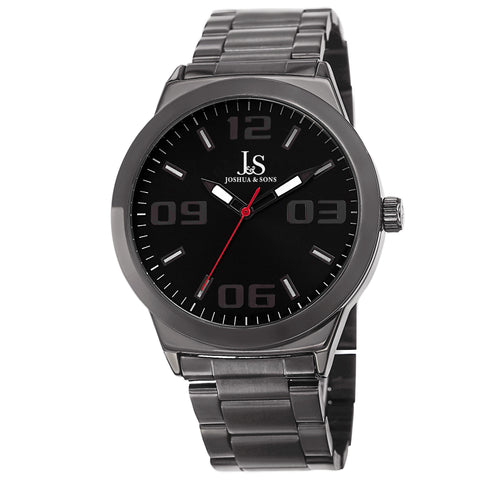 Joshua & Sons JS85BK Classic Stainless Steel And Sport Watches