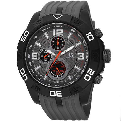 Joshua & Sons Men's JS92GY Chronograph Watch with Silicone Band