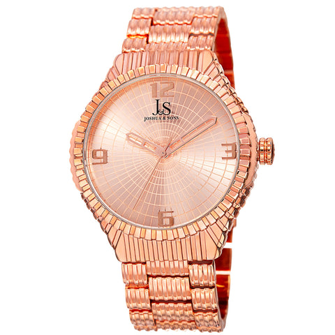 Joshua & Sons Women's Quartz Watch with Sunray Dial on Bracelet Watch JS99RG