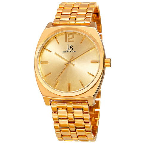 Joshua & Sons Women's Quartz Watch with Sunray Dial on Bracelet Watch  JX102YG