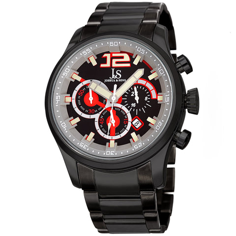 Joshua & Sons Men's Quartz Stainless Steel and Multifunction Watch JX134BK