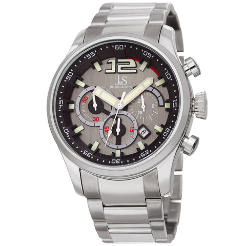 Joshua & Sons Men's Quartz Stainless Steel and Multifunction Watch JX134SSBK