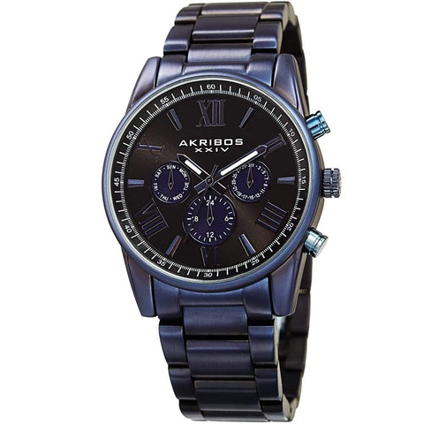 Akribos XXIV Men's Swiss Quartz Multifunction Bracelet Watch AK912BU