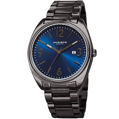 Akribos XXIV Men's Quartz Stainless Steel Bracelet Watch AK957GNBU