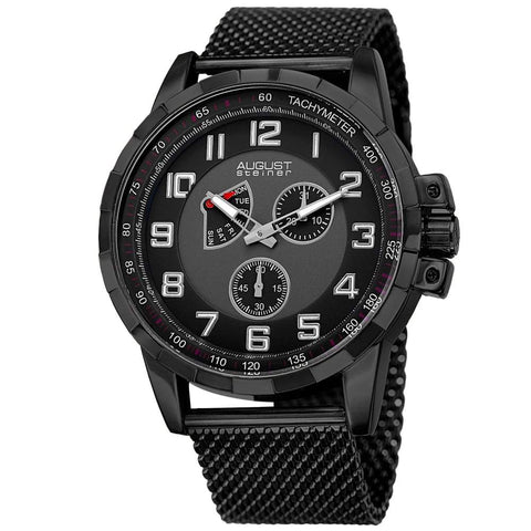 August Steiner Men's Watch AS8202BK