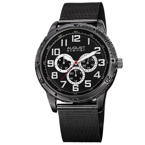 August Steiner Men's Watch AS8115BK