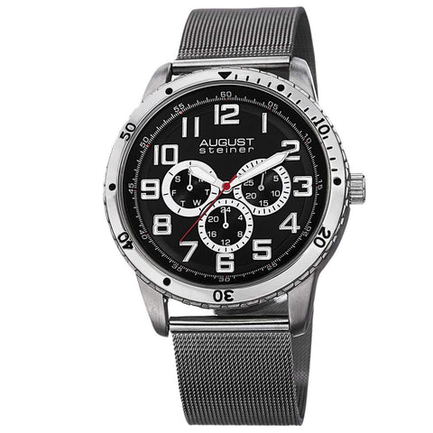 August Steiner Men's Watch AS8115SSB