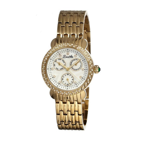 Bertha Daniella MOP Ladies Bracelet Watch - Gold/White