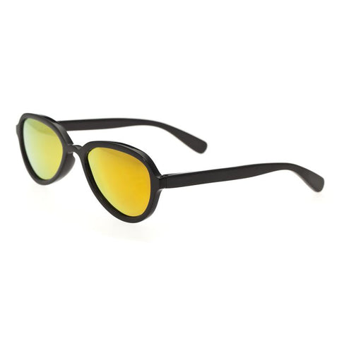 Bertha Alexa Buffalo-Horn Polarized Sunglasses - Black/Gold
