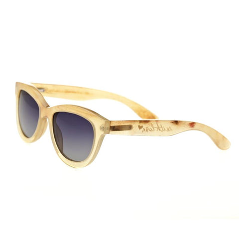 Bertha Carly Buffalo-Horn Polarized Sunglasses - Honey/Black