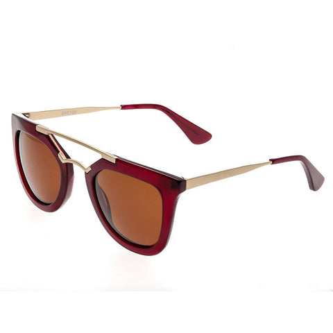 Bertha Ella Polarized Sunglasses - Red/Brown