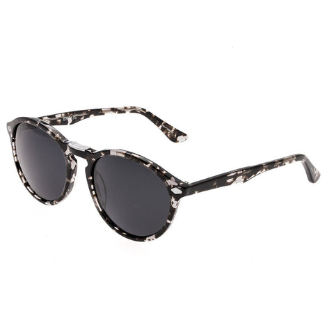 Bertha Kennedy Polarized Sunglasses - Silver Tortoise/Black
