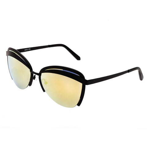 Bertha Aubree Polarized Sunglasses - Black/Yellow