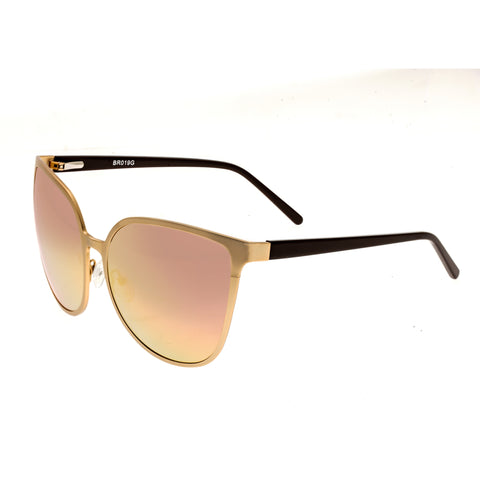 Bertha Ophelia Polarized Sunglasses - Rose Gold/Rose Gold