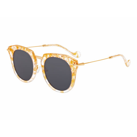 Bertha Aaliyah Polarized Sunglasses - Peach Tortoise/Black