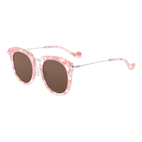 Bertha Aaliyah Polarized Sunglasses - Pink Tortoise/Brown