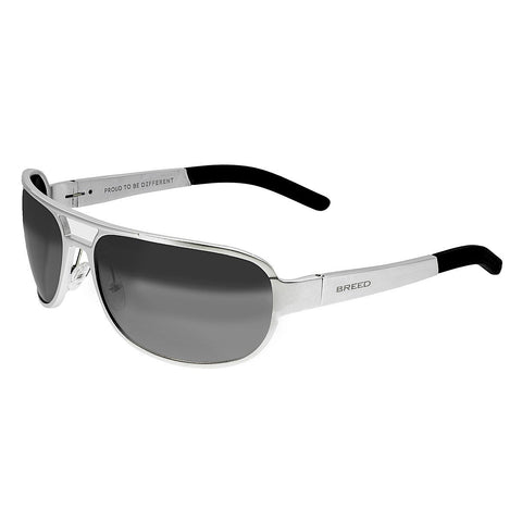 Breed Xander Aluminium Polarized Sunglasses - Silver/Silver