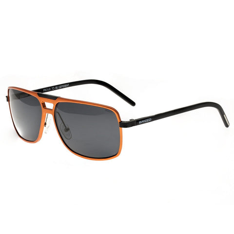 Breed Aurora Aluminium Polarized Sunglasses - Orange/Black