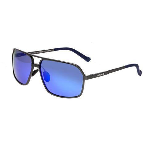 Breed Fornax Aluminium Polarized Sunglasses - Gunmetal/Blue