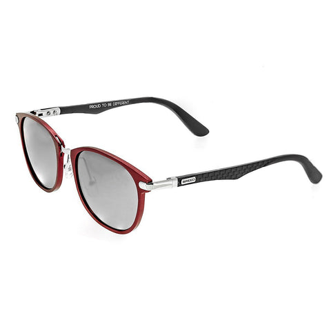 Breed Cetus Aluminium and Carbon Fiber Polarized Sunglasses - Red/Silver