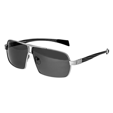 Breed Sagittarius Titanium Polarized Sunglasses - Silver/Black