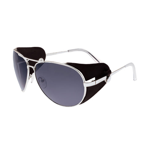 Breed Eclipse Titanium Polarized Sunglasses - Silver/Black