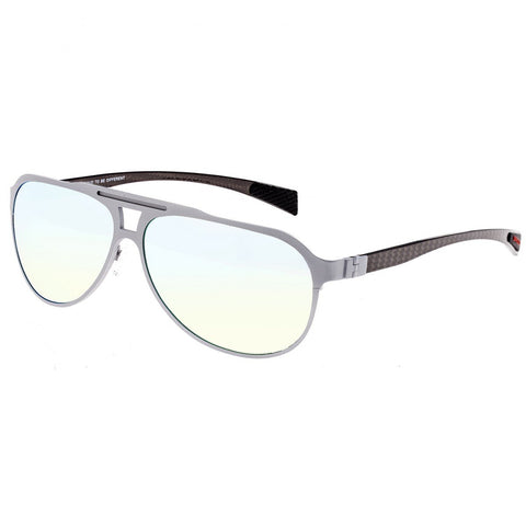 Breed Apollo Titanium and Carbon Fiber Polarized Sunglasses - Silver/Gold
