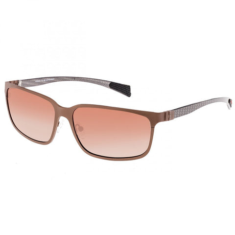 Breed Neptune Titanium and Carbon Fiber Polarized Sunglasses - Brown/Brown