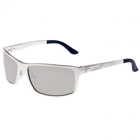 Breed Kaskade Aluminium Polarized Sunglasses - Silver/Silver