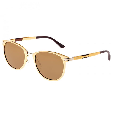 Breed Orion Aluminium Polarized Sunglasses - Gold/Brown