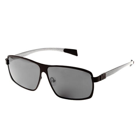 Breed Finlay Titanium Polarized Sunglasses - Black/Black