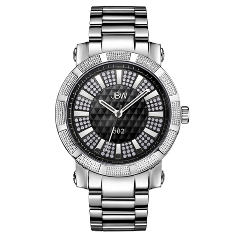 "JBW Men's ""562"" 0.12 ctw Stainless Steel Diamond Watch JB-6225-B"