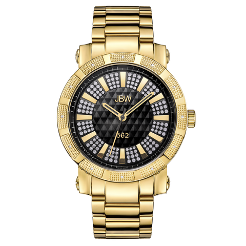 "JBW Men's ""562"" 0.12 ctw 18k gold-plated stainless-steel Diamond Watch JB-6225-C"