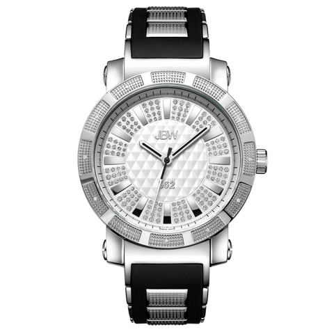"JBW Men's ""562"" 0.12 ctw Stainless Steel Diamond Watch JB-6225-I"