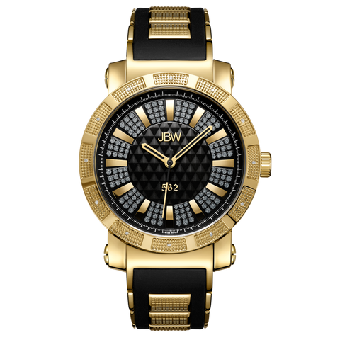 "JBW Men's ""562"" 0.12 ctw 18k gold-plated stainless-steel Diamond Watch JB-6225-J"