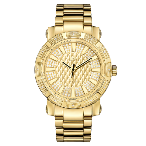 "JBW Men's ""562"" 0.12 ctw 18k gold-plated stainless-steel Diamond Watch JB-6225-M"