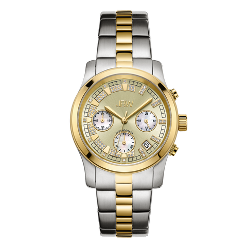 JBW Women's Alessandra 0.20 ctw Stainless Steel Diamond Watch JB-6217-C