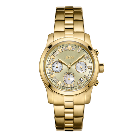 JBW Women's Alessandra 0.20 ctw 18k gold-plated stainless-steel Diamond Watch JB-6217-E