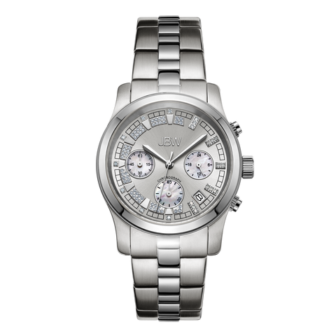 JBW Women's Alessandra 0.20 ctw Stainless Steel Diamond Watch JB-6217-K