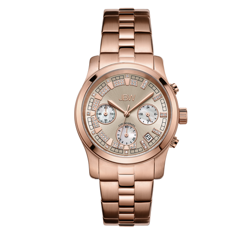 JBW Women's Alessandra 0.20 ctw 18K Rose Gold-Plated Stainless Steel Diamond Watch JB-6217-L