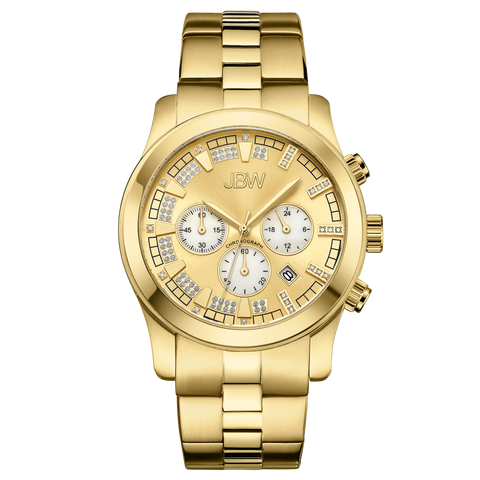 JBW Men's Delano 0.20 ctw 18k gold-plated stainless-steel Diamond Watch JB-6218-E