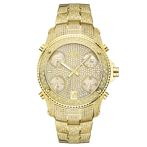 JBW Men's Jet Setter 1.20 ctw 18k gold-plated stainless-steel Diamond Watch JB-6213-A