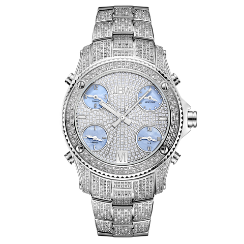 JBW Men's Jet Setter 1.20 ctw Stainless Steel Diamond Watch JB-6213-C