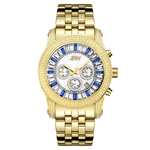 JBW Men's Krypton 0.20 ctw 18k gold-plated stainless-steel Diamond Watch JB-6219-G