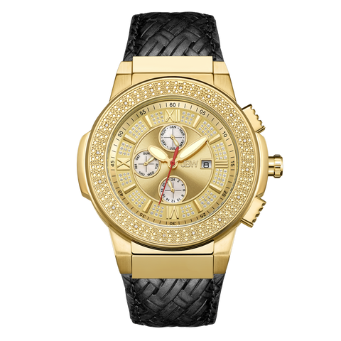 JBW Men's Saxon 0.16 ctw 18k gold-plated stainless-steel Diamond Watch JB-6101L-J