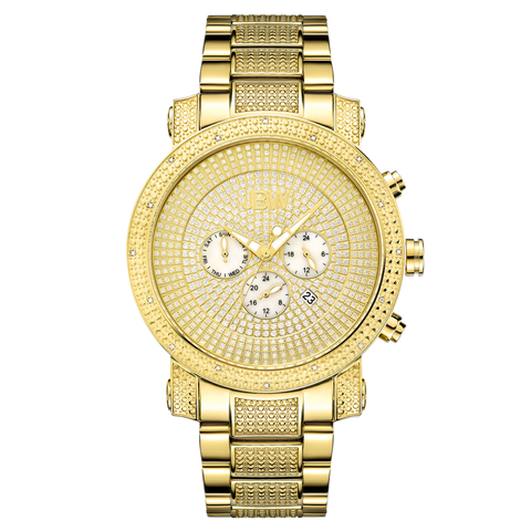JBW Men's Victor 0.16 ctw 18k gold-plated stainless-steel Diamond Watch JB-8102-A