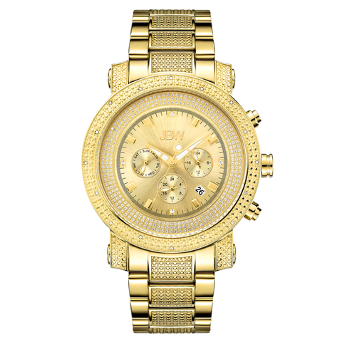 JBW Men's Victor 0.16 ctw 18k gold-plated stainless-steel Diamond Watch JB-8102-F