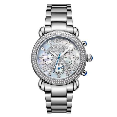 JBW Women's Victory 0.80 ctw Stainless Steel Diamond Watch JB-6210-160-A