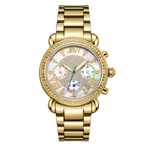 JBW Women's Victory 0.16 ctw 18k gold-plated stainless-steel Diamond Watch JB-6210-A